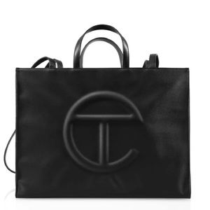 NEW Telfar Iconic Medium Black Shopping Tote Bag EXCLUSIVE Sold Out Everywhere
